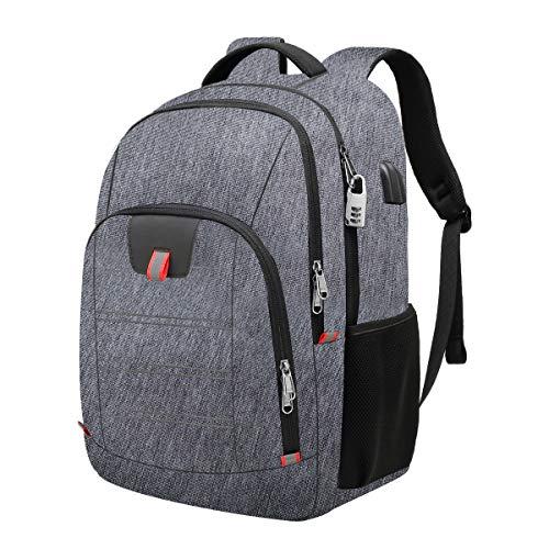Laptop Rucksack Herren Anti-Diebstahl Rucksack für 17 zoll Laptop Schulrucksack Daypack Multifunktion Business Notebook Taschen Wasserdicht Großer mit USB Ladeanschluss für Arbeit Reisen,für Männer