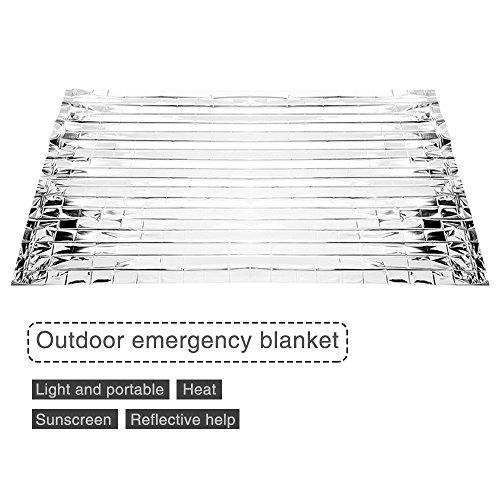4 Stück Notfall Zelt Rettungsdecken Ultralight Silber Notfall Wärmedämmung fit für Outdoor-Aktivitäten Camping, Wandern (Packung mit 4).