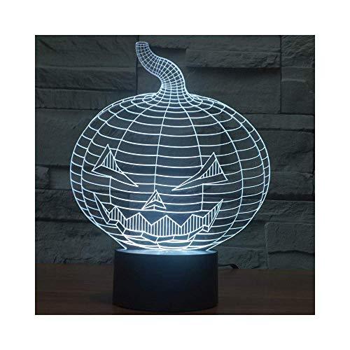 Xiang Home Size: 28 * 22 * 12cm Halloween-Kürbis-Geschenk-Ideen beleuchtet die romantischen Geschenke der Nacht-3D (Ideen Halloween-kürbisse Für)