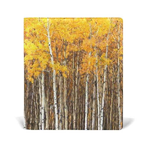 mydaily Aspen Bäume Herbst wiederverwendbar Leder Buch 22,9x 27,9cm für mittlere bis Größe Jumbo Hardcover Schulbücher lehrbüchern. -