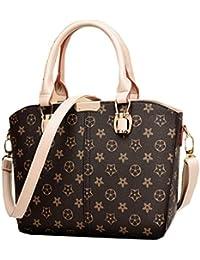 Di Grazia Women's Italian Handbag (Brown, Brown-Tote-Stars-Handbag)