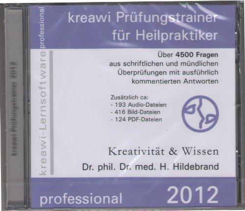 Kreawi Prüfungstrainer für Heilpraktiker 2013, 1 CD-ROM Über 4500 Fragen aus schriftlichen und mündlichen Überprüfungen mit kommentierten Antworten. Zusätzlich ca. 193 Audio-Dateien, 416 Bild-Dateien, 124 PDF-Dateien. Für Windows 98/ME/Server 2003/2000/SP3/XP