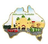 zamonji Universität von Melbourne Souvenir 3D Harz Kühlschrankmagnet Küchen-Magnet Heimdeko, Reise-Aufkleber Geschenk aus Australien