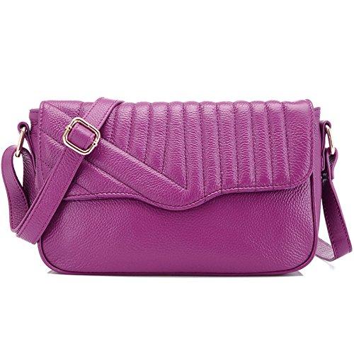 Chlln Diagonale - Tasche Und Beutel Retro - Leder - Mode - Flut Schulter Diagonal Paket Tasche Platzen Violet