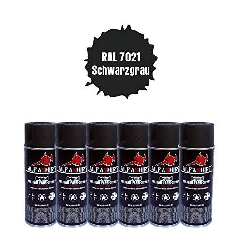WH 25397 RAL 7021 - Juego de Botes de Pintura en espray, Color Gris y Negro