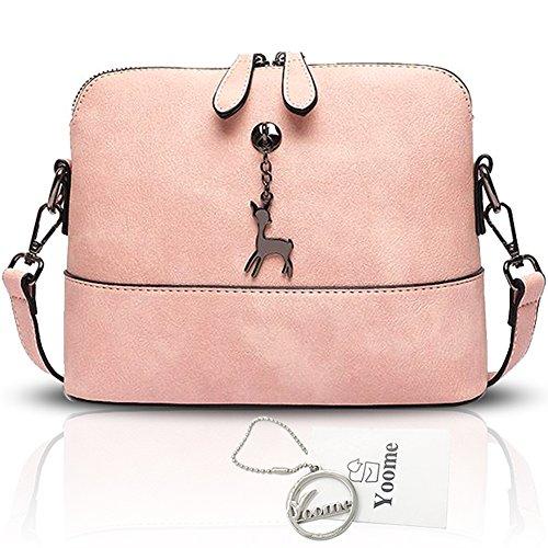 Yoome Hollow Pendant Printing Nette Tasche für Frauen Shell Tasche Mädchen Taschen für College - Blau Rosa