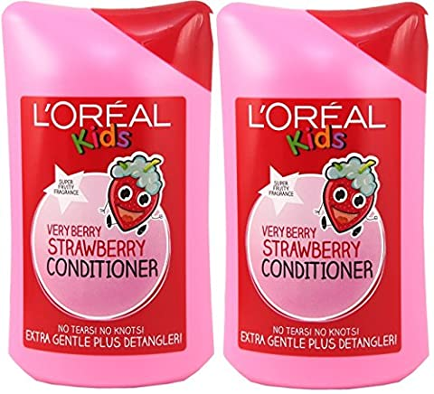 2x L'Oreal Paris Kids Very Berry Strawberry Conditioner