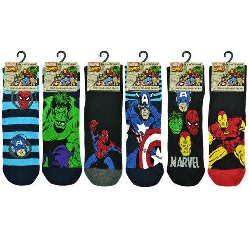 6-Pairs-3-Pairs-New-Prints-Marvel-Comics-Action-Hero-Design-Socks-Mens-Novelty-Fun-Spiderman-Hulk-Captain-America-Iron-Man-Marvel-Socks-6-11