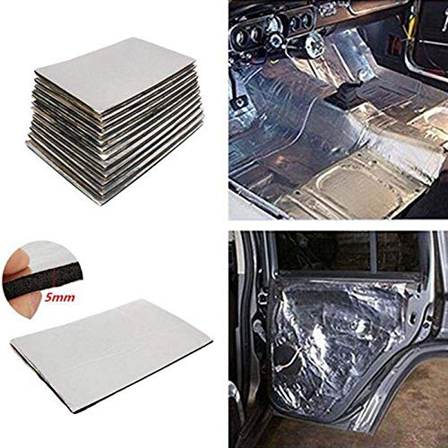 MOGOI Isolante insonorizzante per Auto, Materiale insonorizzante per Auto Tappetino per Automobili Heat Sound Absorption Deadener Car Noise Control Smorzamento Acustico