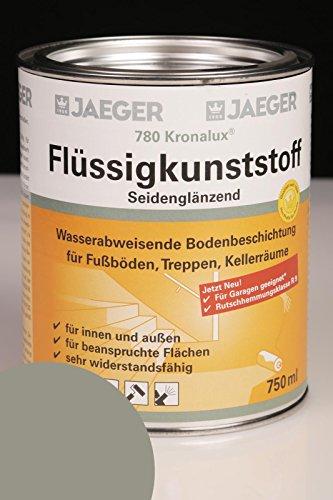 Jaeger Kronalux Flüssigkunststoff 780 steingrau RAL7030 750ml Bodenbeschichtung