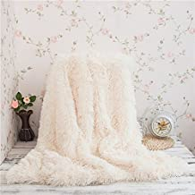 Franela Manta de Forro Polar Acogedor Sofá Cama de Color Sólido manta Viaje para Salón Habitación Coche Manta de microfibra, 400g/m² Franela Sin Pelusa Antiacara 160x220cm (Crema, 130 x 160 cm)