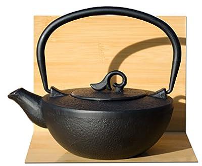 Théière en fonte Noir Nami Thé Pot Bouilloire 0,4l-Théière pour une personne-Style Japonais