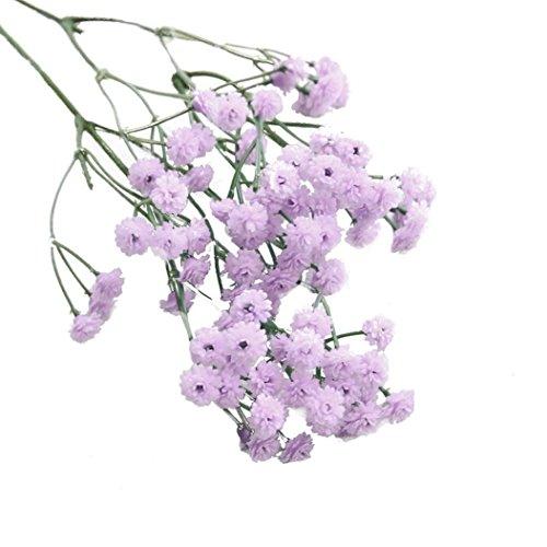 Unechte Blumen Kunstblume,Traumzimmer kunstblumen KüNstliche Seide Falsche Blumen Schleierkraut Floral Hochzeitsstrauß Partei Dekor -Simulation Flower Flanellrosen Künstliche