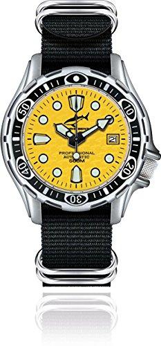 Chris Benz Deep 500m Automatik CB-500A-Y-NBS Reloj Automático para hombres Reloj de Buceo