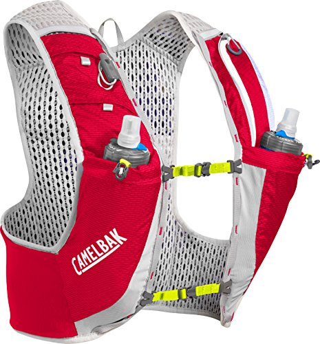 CAMELBAK Ultra Pro Trinkrucksack Weste with Quick Stow Flask Crimson Red/Lime Punch Größe L 2018