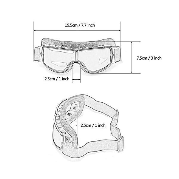 Masque moto type rétro sable 3