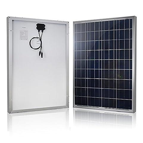 HQST 100w 12v Module Solaire Polycristallin Panneau Solaire Photovoltaïque Cellule Solaire Pour Recharger Les Piles 12 Volt(RV, Bateau, Toit, Voiture, Caravane)