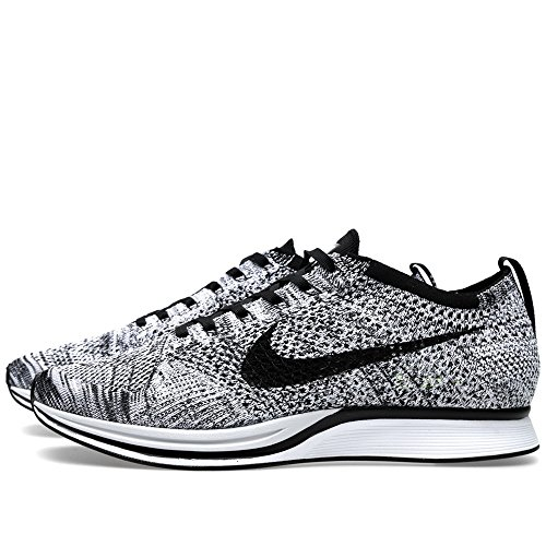 Nike Flyknit Racer, Chaussures de Running Entrainement Homme white/black-volt