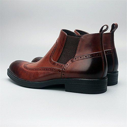 bullock ha inciso le scarpe gli stivali corti inglese bullock intagliare le scarpe Dark brown