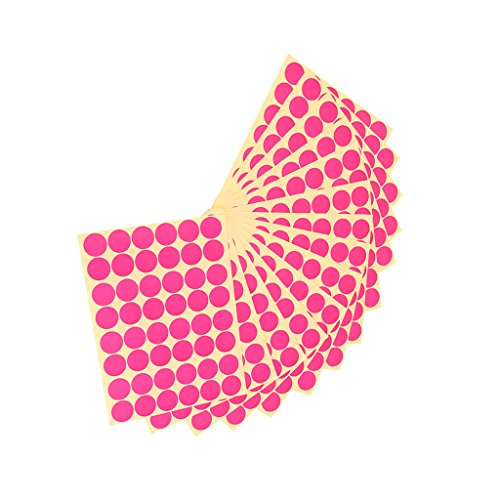 Imported 720Pcs 25mm Dots Sticker Round Circle Blank Labels Self Adhesive- Rose Red