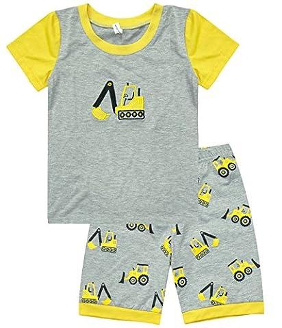 Eulla Ensemble pyjama pour garçon - manches (3 Pezzi Bambino Outfit)