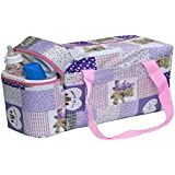 Annapurna Sales Baby Diaper Bag With Bottle Warmers Or Nappy Changing Bag With 2 Bottle Warmers - Purple (Unisex)