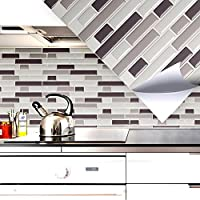Grandora Kit De 4 Mosaico 3D Adhesivo de azulejo W5203 autoadhesiva 28,6 x 25,3 cm Cocina Baño Adhesivo de pared Decoración azulejos Lámina