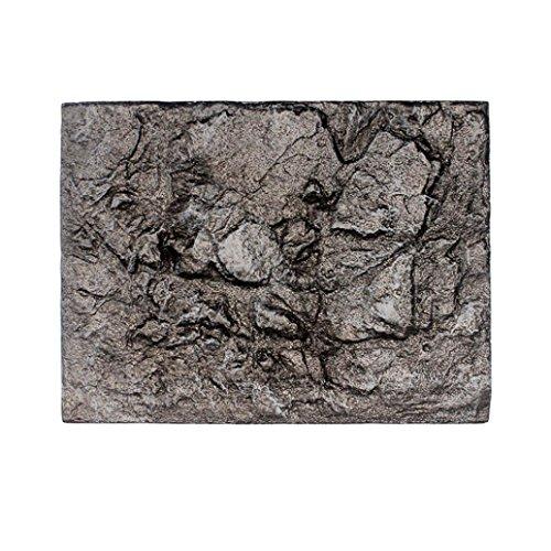 Igemy 3D Schaum Felsen Reptil Stein Aquarium Hintergrund Kulisse Fisch Tank Board Dekor 1 PCS (E)