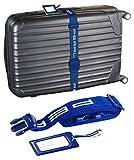 PEARL Koffer-Spanngurt: Stabiler Gepäck- und Koffergurt (5 x 200 cm) mit Kofferanhänger (Sicherheitsbänder für Koffer)