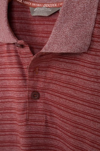 Mountain Warehouse Saltash Gestreiftes Herren-Poloshirt Burgundrot