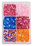 #10: eshoppee Sequins Sitara, 150 gm Box,for Jewellery Making Embroidery Material Art and Craft DIY kit, Glitter Sequince Rhinestones Beads
