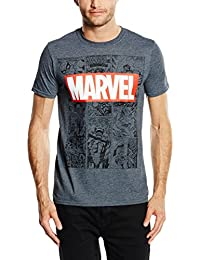 Marvel Men's Mono Comic T-Shirt