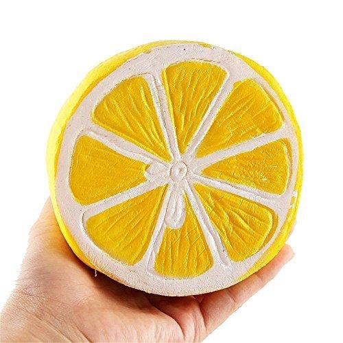 Dapei Anti-stress Spielzeug Eine halbe Zitrone Langsam aufsteigende Stressabbau Party Dekoration Glänzendes Geschenk für Jungen und Mädchen -