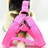 Safety Dog Vest Weiches und bequemes LED Harness, keine Pull Hundegeschirr, groß, Hund Pet Hundegeschirr Pet Weste für Outdoor Walking (XS, pink)