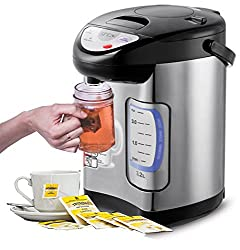 Thermopot | Heiß Wasser Spender | Kocher | Teekocher | Dispender | 3,2Liter | Edelstahl | 3 Möglichkeiten der Wasserentnahme | 730 Watt (Thermopot 3,2L)