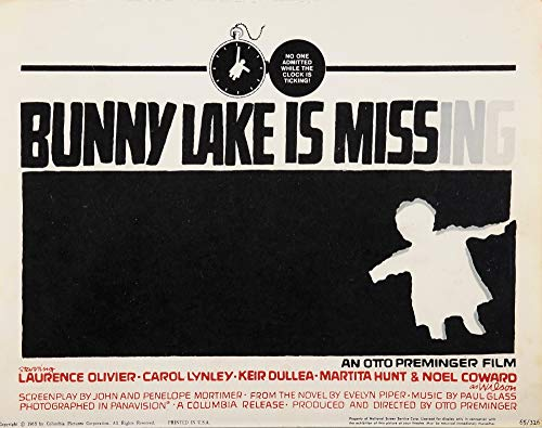 The Poster Corp Bunny Lake is Missing Photo Print (50,80 x 40,64 cm) Corp Bunny