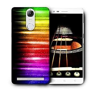 Snoogg Colorful Strips Designer Protective Back Case Cover For LENOVO K5 VIBE