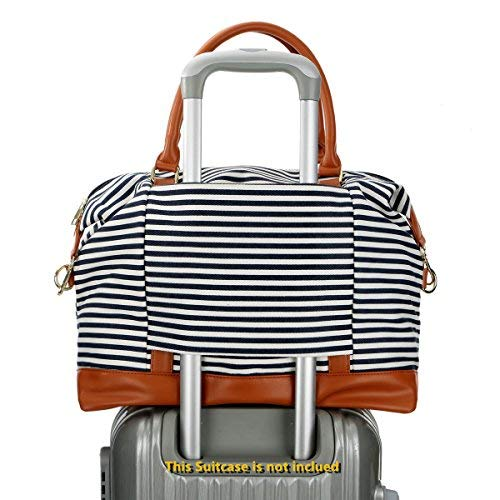 Ladies Canvas Weekend / Overnight Carry-on Shoulder Duffel Tote Bag