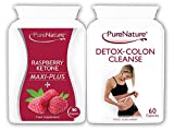 90 Raspberry Ketone Maxi-Plus + 9 Powerful Ingredients including Acai Berry, African Mango, Green Tea & Caffeine-Anhydrous + 60 Premium Detox Colon Cleanse   Suitable for Vegetarians   FREE UK DELIVERY by Distributed by Be-Beautiful-Online