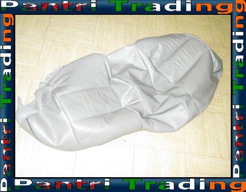 BMW E34 Rear Seat Base Leather Cover Trim Grey 8168313