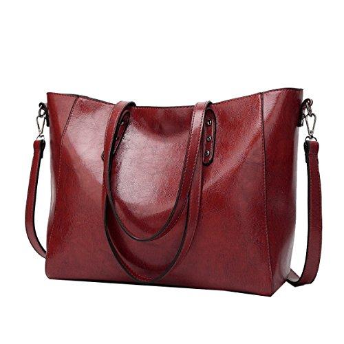 Yy.f Nuove Borse Big Bag Moda In Pelle Di Olio Spalla La Signora A Mano Borse Diagonali Sacchetti Multicolore Sacchetto Di Colore Solido Red