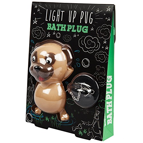 Attitude Clothing Pug Light Up Bath Plug