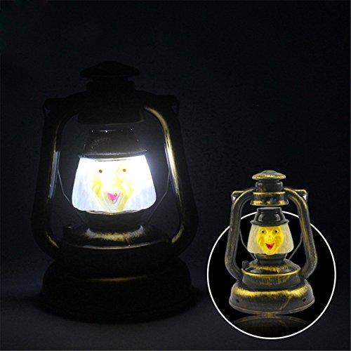 JIALUN- LED Tragbare Nachtlicht Ghosty Laughter Light 3W Halloween Deko Prop Kürbis Hexe Laterne Hand Totenkopf Lampe ( Color : Colormix )