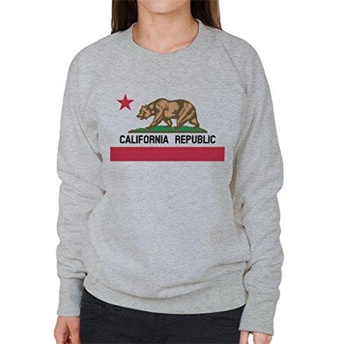 California Republic State Bear Flag Women's Sweatshirt (Flag State Sweatshirt)