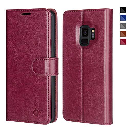 Housse Portefeuille avec Fentes de Cartes,Fermeture Magn/étique Coque- BONROY Coque Samsung Galaxy S8 Rose-XS