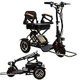 LLPDD Mobility Scooter, Mini Electric Tricycle tragbare Falten Erwachsene/Ältere/Behinderte Elektro-Scooter Lithium Elektrofahrzeug für Erwachsene und Old Man -