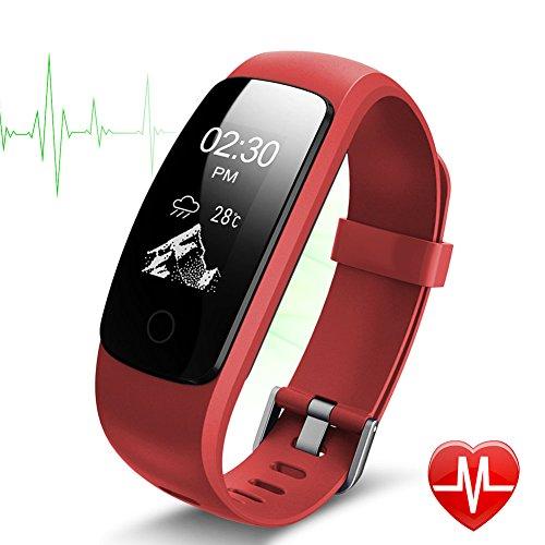Pulsera inteligente, Lintelek monitor de ritmo cardíaco, sueño, GPS para correr, Impermeable IP67, Cronómetro, Bluetooth 4.0 compatible con IOS y Android