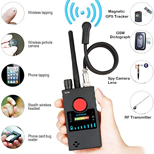 Detector Señal RF Anti Espía Cámara RF,Cámara Oculta Inalámbrica GPS Rastreador Mayor...
