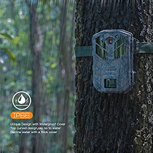 APEMAN Wildlife Camera Photo Trap 20MP 1080P with Infrared Night Vision up to 65ft / 20m IP66 Spray Waterproof for Outdoor Nature, Garden, Home Security Surveillance