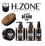 Kit Barba e Baffi + Spazzola - H-Zone Essential Beard - Renèe Blanche